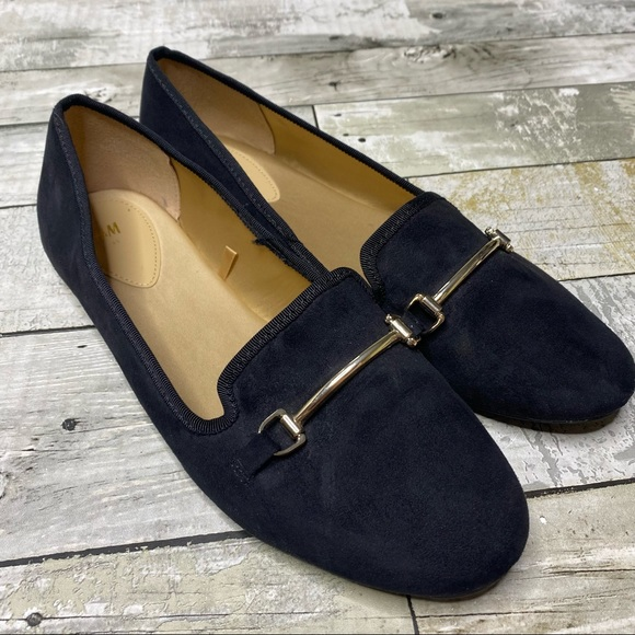 H&M black chain loafers